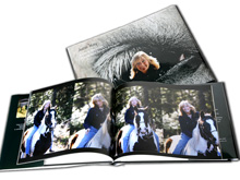 A coffee table quality photo book is the best way to capture a group of photos representing something special. The photo book approach works well for portrait photos (it portrays the multi-facets of an individual much better than a single photo can ever do), family reunions, weddings, anniversary get-togethers, events such as concerts, theater productions, or for creating a souvenir or marketing piece for a resort. Books can be made in a range of sizes, covers, and quality of photo printing.